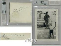 Pablo Picasso Signé / Autograph Photographie Beckett Bas Authentique