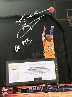 Panini Authentique Autographe Signé Kobe Bryant 16x20 Photo Finale Tir 60 Pts / 124