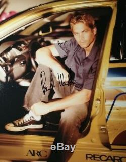 Paul Walker Fast And Furious Signé Autographié Photo 8x10 Authentique