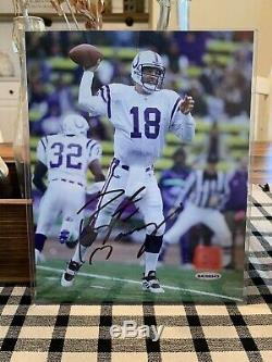 Photo De Peyton Manning Autographed NFL Indianapolis Colts Avec Authenticité