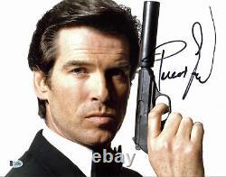 Pierce Brosnan James Bond 007 Authentique Signé 11x14 Photo Dédicacée Bas 2