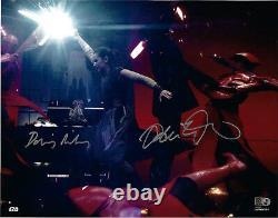 Pilote & Ridley Signé Star Wars Jedi 11x14 Photo Kylo Ren Rey Topps Authentic
