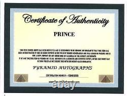 Prince- Un Chanteur De Musique Signe Une Photo Dédicacée Avec Certificat D'authenticité