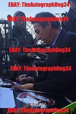 Projet De Loi Murray +3 Authentique Ghostbusters Signé À La Main 11x14 Photo (jsa Coa)