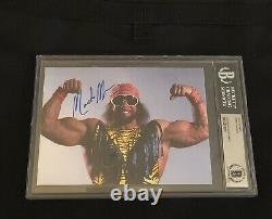 Randy Macho Man Savage Signé Autographié 5x7 Photo Wcw Beckett Bas Authentic