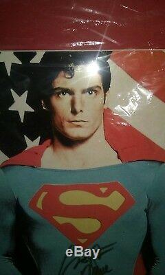 Rare Vintage Authentique Christopher Reeve Superman Signé Pose Coa 10180