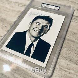Reagan Signé Ronald Autographed Psa Adn Authentique