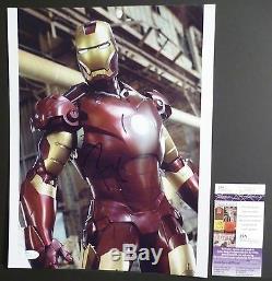 Robert Downey Jr. Authentique Main Signé Iron Man-guerre Civile 11x14 Photo (jsa / Aoc)