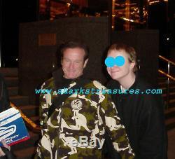 Robin Williams Genie Autographe Guitar Psa Adn Authentique Un D'une Sorte