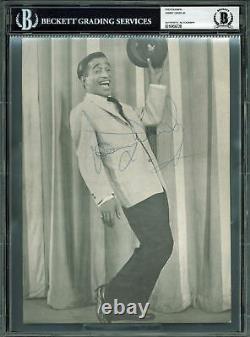 Sammy Davis Jr. Le Rat Pack Authentique Signé 8x11 Photo Dédicacée Bas Slabbed