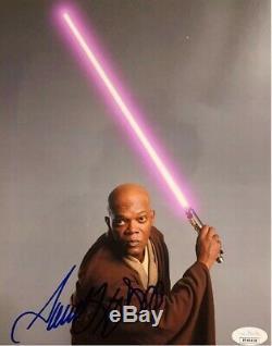 Samuel L Jackson Signé Star Wars 8x10 Autograph Jsa Assermentée
