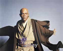 Samuel L. Jackson Wars Étoiles Authentique Signé 16x20 Photo Dédicacée Bas # E37855