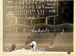 Sandy Koufax A Signé 16x20 Photo Dodgers Hof 72 Autographe Mlb Oa Authentique