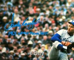 Sandy Koufax Signe 1965 Ws 16x20 Photo Photo Dodgers (mlb Authenticated)