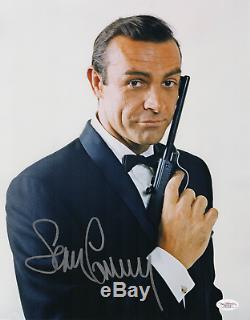 Sean Connery A Dédicacé 11x14 Photo Signé! James Bond! Jsa Assermentée