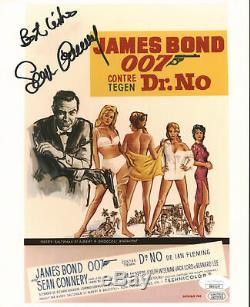 Sean Connery James Bond 007 Authentique Signé 8x10 Photo Dédicacée Jsa # Bb03197