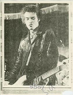 Sex Pistols 1978 Sid Vicious, Johnny Rotten Tournée Américaine Photos Dédicacées 100% Authentiques