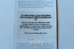 Signé Michael Jordan 1er Nba Finals Trophy Upper Deck Authentifié Uda
