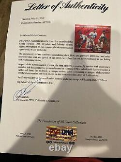 Signé Union Dodgers 76 1965 Dna Sandy Koufax Drysdale Podres Psa Authentique