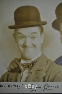 Signée Laurel & Authentique Hardy Photo De Graves ' Bud Stax