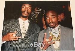 Snoop Dogg Signé Autograph Authentic'tupac Shakur ' 11x14 Photo Coa Rapper
