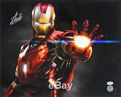 Stan Lee Authentique Signé Iron Man 16x20 Photo Marvel Comics Psa / Dna 2