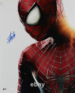 Stan Lee Spider-man Authentique Signé 16x20 Photo Autographiée Bas #z32562
