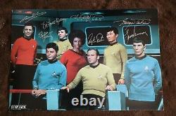 Star Trek Cast Signé Signé Signé Photo De 7 Psa Authentifié