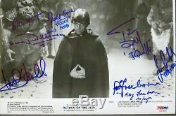 Star Wars Photo Autographiée Mark Hamill Stuart & Kay Freeborn 5 Psa Authentique