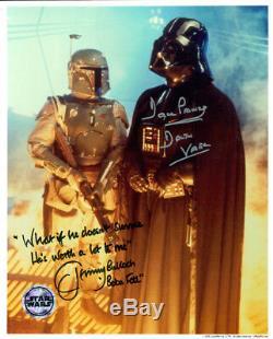 Star Wars (dave Prowse & Jeremy Bulloch) Signé Authentique 8x10 Photo Coa