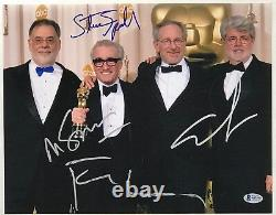 Steven Spielberg George Lucas Martin Scorsese Francis Ford Coppola Signé Bas
