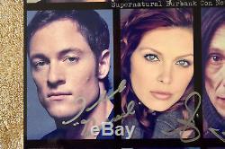 Supernatural Cast Authentique Photo Dédicacée À Burbank Convention 14x11