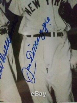 Ted Williams Joe Dimaggio Signé Authenticité Photo De Loa Inclus