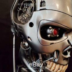 Terminator T-800 Signé Par Arnold Schwarzenegger Head Skull Skeleton Autographié