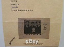 The Beatles Autographié Parlophone Promo Photo Lettre Légale Authenticité