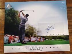 Tiger Woods Signé 8x10 Uda Deck Supérieur Authentifié Signature Shots