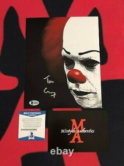 Tim Curry Auto Signée 8x10 Photo! Pennywise! Il! Horreur! Beckett Authentique