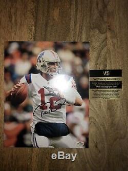 Tom Brady Autograph Photo Avec Coa Signé 8x10 Throwback Authentique