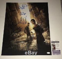 Troy Baker Ashley Johnson Signe 16x20 + 8 Derniere Us Authentique Autograph Jsa Coa