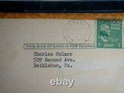 Ty Cobb 12/11/55 Signé (bas) Beckett Certifié Authentique Gpc Autographié Mint