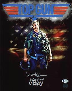 Val Kilmer Iceman Top Gun 1986 Authentique Signé 11x14 Photo Dédicacée Bas 1