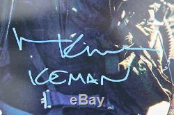 Val Kilmer Iceman Top Gun Authentique Signé 16x20 Photo Bas Témoin De