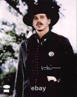 Val Kilmer Tombstone Authentique Signé 11x14 Photo Autographié Jsa 2