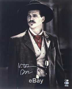 Val Kilmer Tombstone Doc Authentique Signé 16x20 Photo Bas Assisté # K14047
