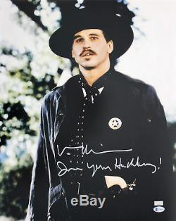 Val Kilmer Tombstone Je Suis Votre Airelle Authentique Signé 16x20 Photo Bas 2