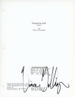Vince Gilligan Authentique Signé À La Main Breaking Bad Pilot Episode Full Script