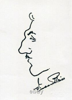 Vincent Price (+) Autographe Acteur Authentique, Croquis Signé Handdrawn