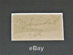 Vintage 1969 Muhammad Ali Authentique Autographié Cut & Photo Dédicacée Emmêlée Encadrée
