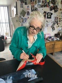 Vivienne Westwood Red Signé De Talons Hauts Avec Exact Proof Photo. Authentique