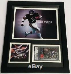Walter Payton Authentique Signé Autographié NFL Bears Encadré 11x14 Photo Psa Coa